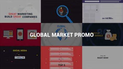پروژه افترافکت تیزر تبلیغاتی بازار جهانی Global Market Promo