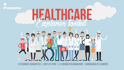 پروژه افترافکت ساخت تیزر تبلیغاتی بهداشتی و درمانی Healthcare Explainer Toolkit