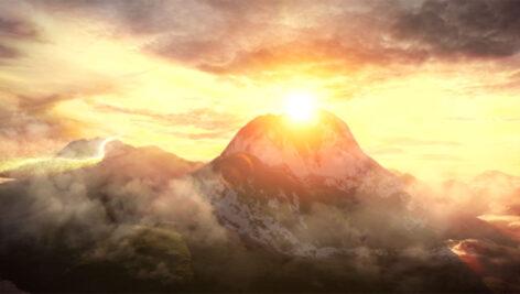 پروژه افترافکت نمایش لوگو در کوه و آسمان