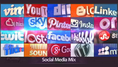 پروژه افترافکت شبکه های اجتماعی Social Media Mix