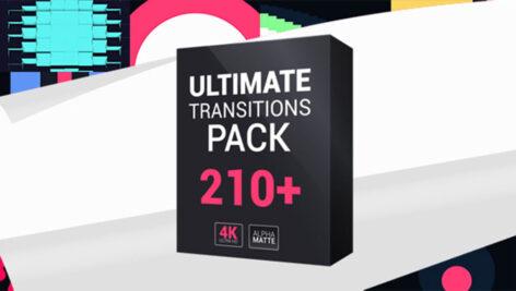 پروژه افترافکت مجموعه جامع ۲۱۰ ترانزیشن ویدیویی با رزولوشن ۴K