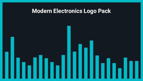 مجموعه موزیک زمینه الکترونیکی مدرن برای لوگو