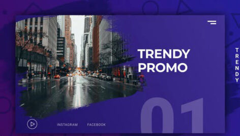 پروژه افتر افکت اینترو و تیزر تبلیغاتی مدرن  Trendy Modern Promo