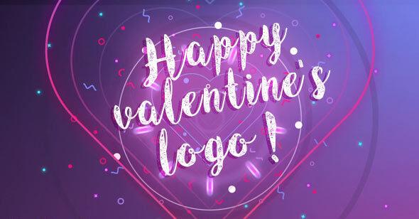 پروژه افتر افکت نمایش لوگو برای تبریک ولنتاین و جشن تولد Happy Valentine logo