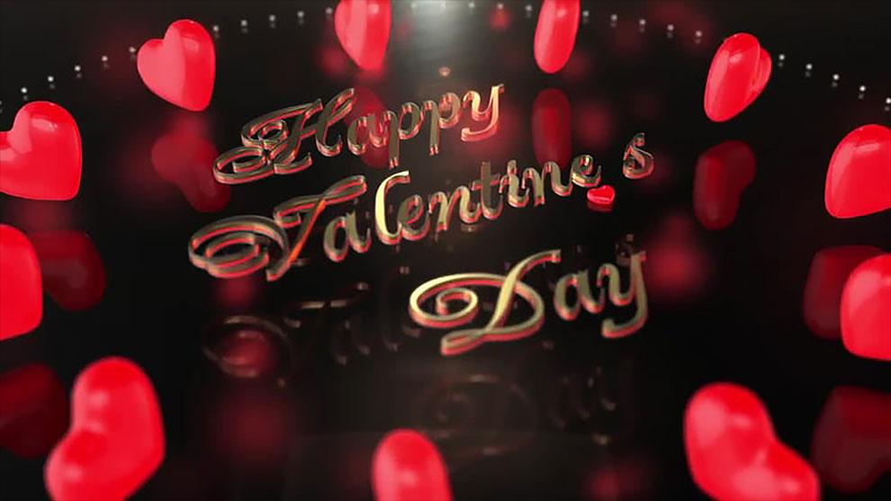 مجموعه ویدیوی موشن گرافیک قلب برای تبریک روز ولنتاین