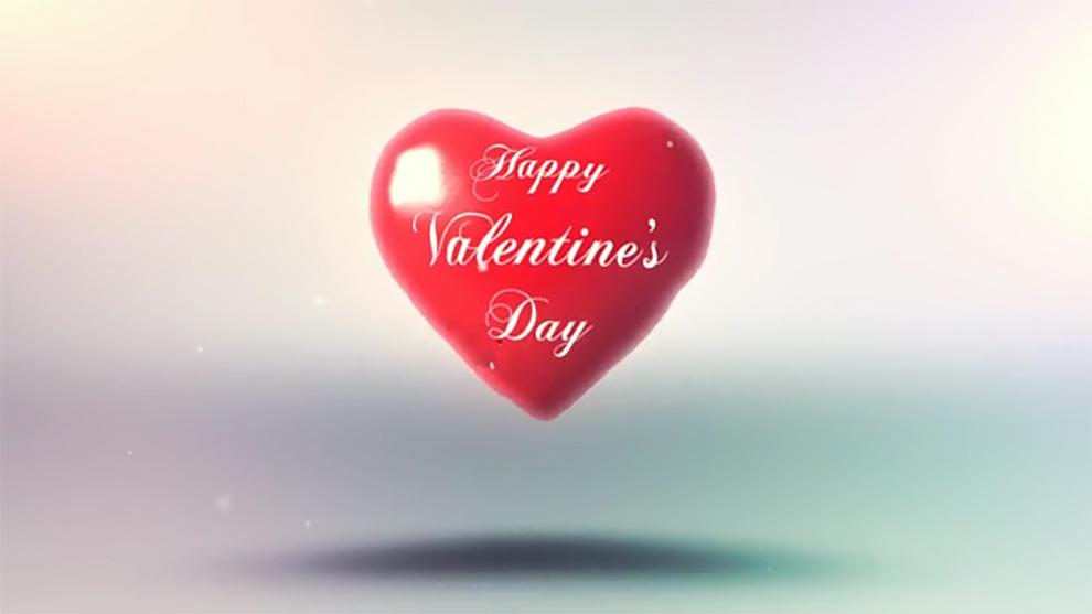 پروژه افترافکت نمایش لوگو قلب ولنتاین Valentines Heart Logo Reveal
