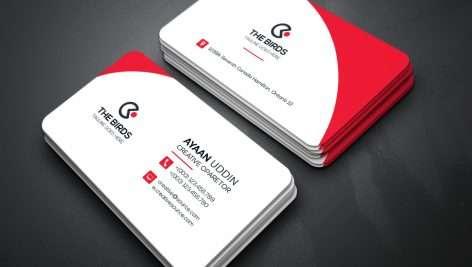 فایل لایه باز کارت ویزیت شرکتی با طرحی زیبا