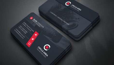 دانلود طرح لایه باز کارت ویزیت با بک گراند دوربین